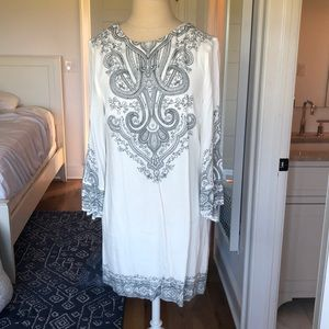Urban Outfitters Dress- White with Gray Pattern